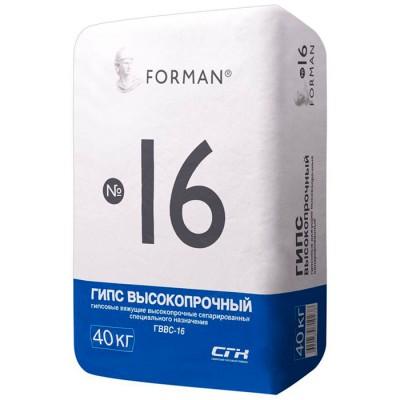 Гипс высокопрочный Форман Г-16 (40кг)